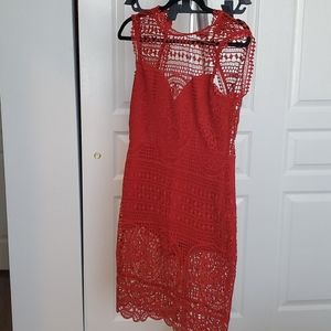 Lovers and Friends red lace dress